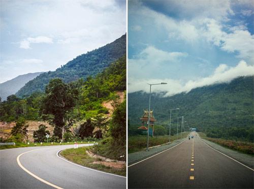 Đường lên cao nguyên Bokor