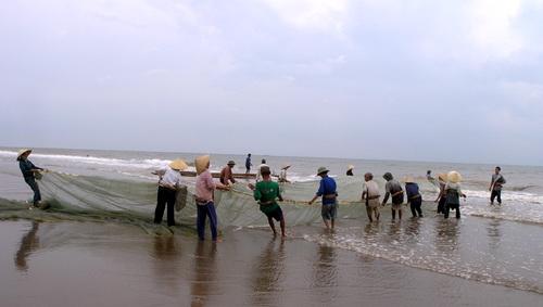 """Du lịch Sầm Sơn-Cùng ngư dân """"kéo rùng"""" bắt cá lúc bình minh"""