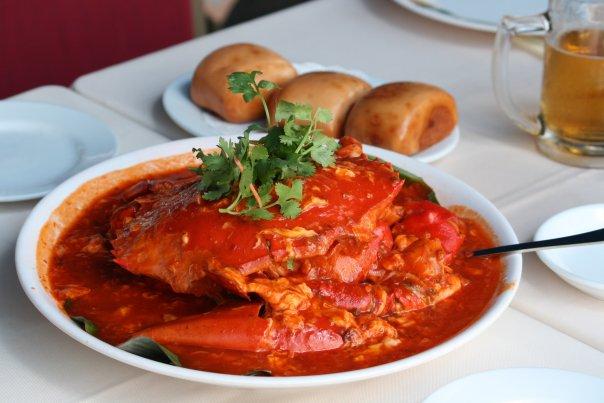 Món Cua sốt cay Chili crab- món ăn đặc trưng của Singapore