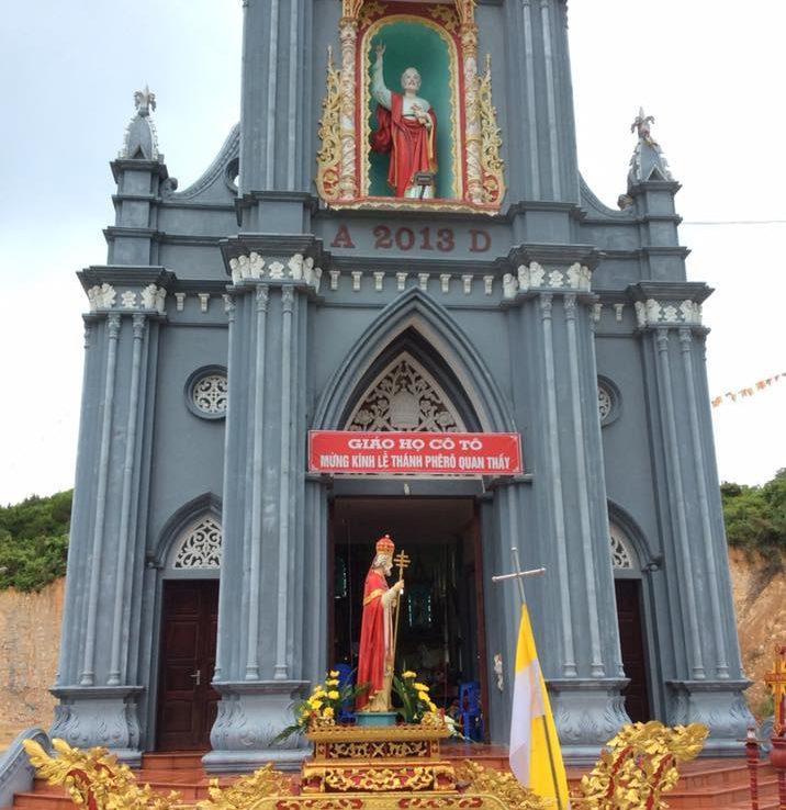 Nhà thờ đầu tiên trên đảo Cô Tô